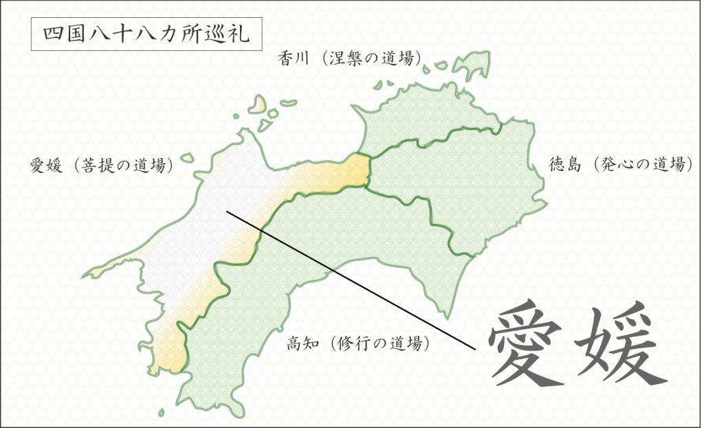 四国88カ所巡礼地図(愛媛)